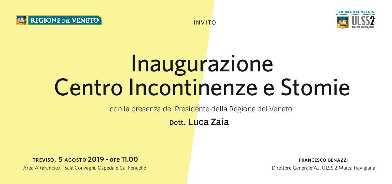 Apre il Centro 3° livello per Incontinenza e Stomie a Treviso. Fincopp tra gli invitati.