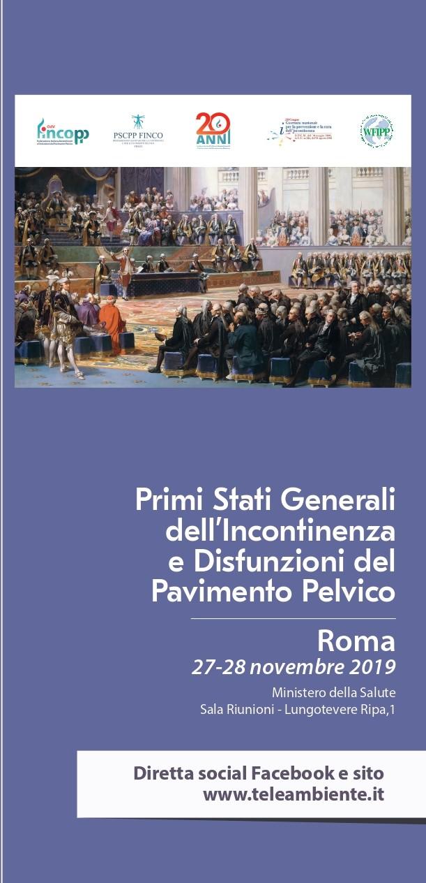 Pronti i 1° Stati Generali sull'Incontinenza. Parte la comunicazione.